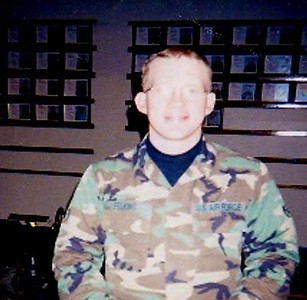 Fredric Eric Felkins, U.S. Air Force, husband to Renee Felkins. Fredric received an honorable discharge and is honored by his wife and children.