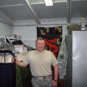"""Verlon McGee Jr., U.S. Army E8, husband to Melissa McGee, who says: """"Special thanks to my husband, who served 28 years in the U.S. military, serving in Desert Storm, Operation Enduring Freedom, and two tours in Iraq, one in Afghanistan."""""""