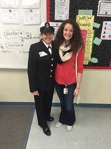 """Jerilynn Pruske, U.S. Navy E8, mother to Krista Pruske, who says: """"She is an incredible, strong, and driven individual who sacrificed holidays, birthdays, and so much more to do her part in making everyone a little more comfortable back at home in the United States. She is everything I could ever imagine being; a mother, a friend and a true leader."""""""