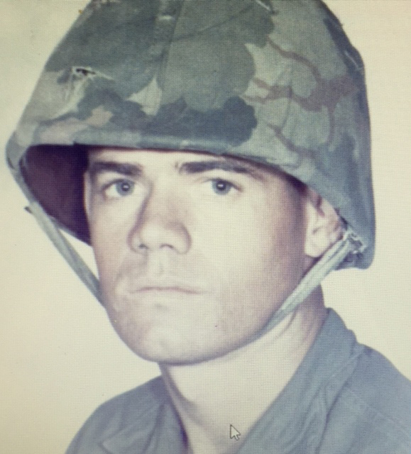 """Glen Barrow, U.S. Marine Corps, father to Gina Mitschke, who says: """"Blessed every day to have this man as my Dad."""""""