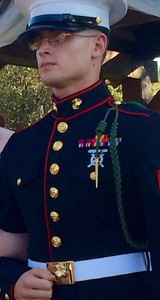 Kevin Eubank, U.S. Marine Corps sergeant, son to Deborah Eubank. Kevin is a 2010 Vista Ridge High School graduate.