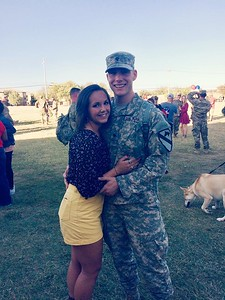 """Tom McDougall, U.S. Army, boyfriend to Julianne Way, who says: """"So proud of all you have accomplished over the last few years! Thank you for all you have done for our country, and I love you!"""""""