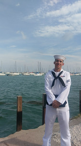 "Nicholas Ford, U.S. Navy seaman E3, son to Tarica Ford, who says: ""I am so proud of my son for choosing to follow in both of his Great Grandfathers career in both the Navy and Coast Guard."""