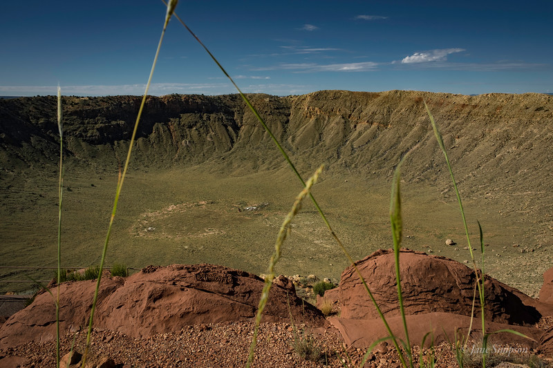 Meteor Crater, AZ, green after a rainy season