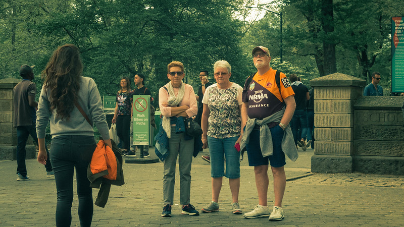 Tourists in Central Park