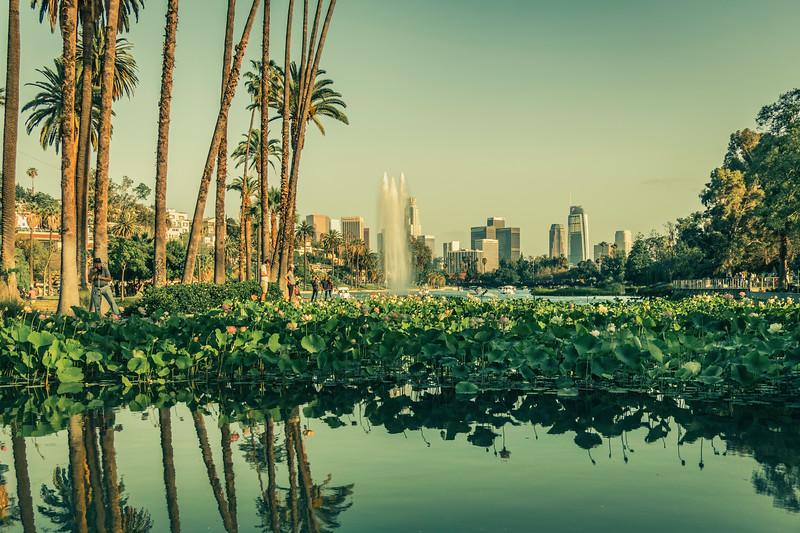 Echo Park Lake, LA