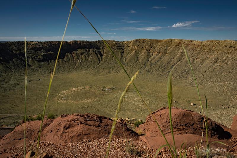Meteor Crater, AZ, green after a rainy season