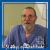 """As I look back on the past year I can think of so many things I am thankful for. I have been blessed with a wonderful wife who loves and supports me always. I am thankful for my family who I love dearly. I am thankful for my health. Here at RRMC I am thankful for the staff I get to work with every day. They are kind and caring individuals who support me in all that I do. All and all I am a happy person who has a wonderful life. How could I not be thankful?"" – Mike Tyl, Environmental Services"