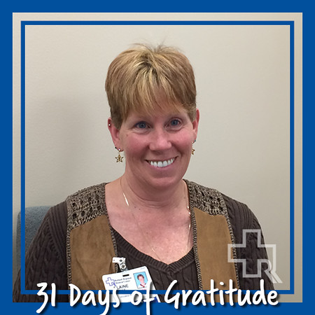 """I am Grateful for SO MUCH...2 Wonderful Children, Grandchildren, friends, family, co-workers, The four seasons...I could go on and on"" – Elaine Imhof, RN, Utilization Management"