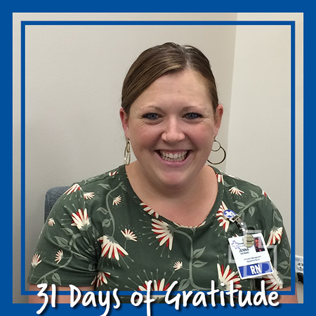 """I am grateful for family, my husband Glen and our children Brentley and Eli for teaching me patience, love and compassion for life."" – Jenna Hayward, RN, Utilization Management"