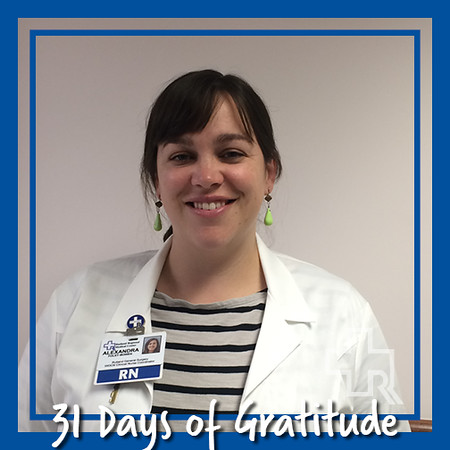"""Over the 11 years I have been employed at RRMC, I have worked with many very special coworkers. I am thankful for these relationships that have carried on, even after one or the other of us has moved on to another position within the organization. These long term relationships are instrumental in facilitating good patient care. When you collaborate with someone, it's typically someone you know by name, you know their story. It's a deeper level of commitment and understanding. You are working with an old friend"" – Alexandra Foley-Bowen, RN, Rutland General Surgery"