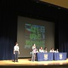 "On March 24, 2017, the 7th grade students participated in our first annual Poetry Slam Competition. The 7th grade English teachers decided to enhance our poetry unit by encouraging all of the students to write original pieces. Some worked individually and others in groups. The students then voted on the poet(s) who would represent their class in the competition which was held in the Roca Theater.<br /> <br /> The winners were as follows: <br /> 3rd place-Manuel Dominguez ""Man Vs. Nature"", <br /> 2nd place- Daniel Marsh ""Brown""<br /> 1st place- Ian Johnson ""Slavery: A Slave's Perspective""<br /> <br /> The artwork which you will see displayed in the background in the pictures was provided by senior Carlos Machado."
