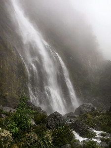 Earland Falls stunned us with its power, driven by the day's downpour
