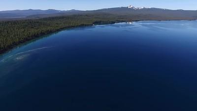 High above Crescent Lake