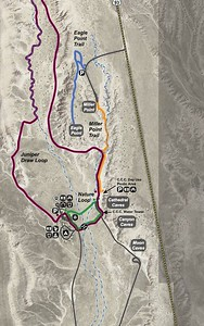 Map of Cathedral Gorge