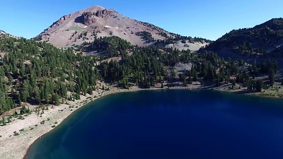 Sweep of Lake Helen, Lassen Peak and Mount Helen