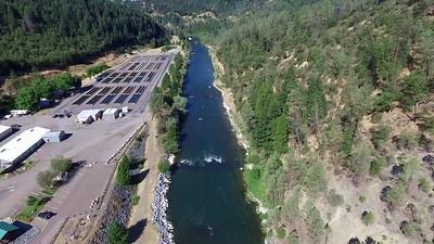 Trinity Dam, river and fish hatchery