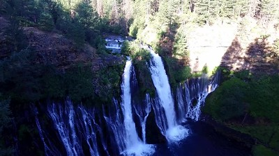 1-Flying out to view McArthuir-Burney Falls