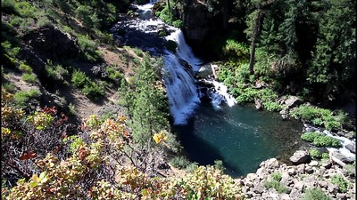 View of Middle McCloud Falls from observation deck