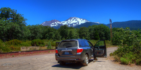 Mount Shasta towers over the landscape