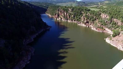 9-Flying over the Flaming Gorge Bridge 2