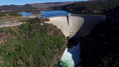 3-Flaming Gorge Dam and flume