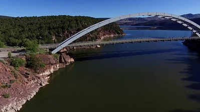 7-Flaming Gorge Bridge and ravine