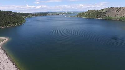 11-Backing away over Glendo Dam