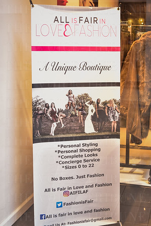 All is fair in love and Fashion pop up shop.