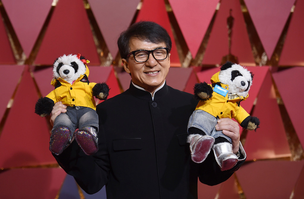 . Jackie Chan arrives at the Oscars on Sunday, Feb. 26, 2017, at the Dolby Theatre in Los Angeles. (Photo by Richard Shotwell/Invision/AP)