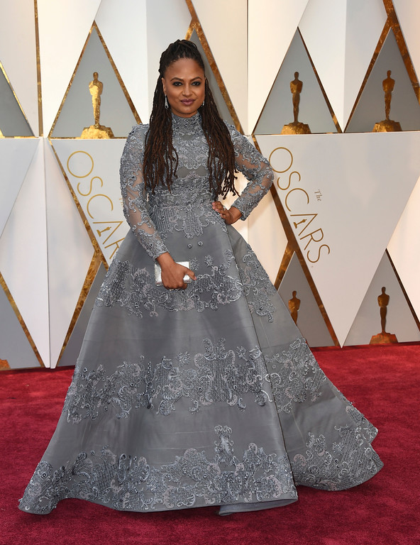 . Ava DuVernay arrives at the Oscars on Sunday, Feb. 26, 2017, at the Dolby Theatre in Los Angeles. (Photo by Jordan Strauss/Invision/AP)