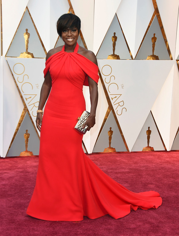 . Viola Davis arrives at the Oscars on Sunday, Feb. 26, 2017, at the Dolby Theatre in Los Angeles. (Photo by Jordan Strauss/Invision/AP)