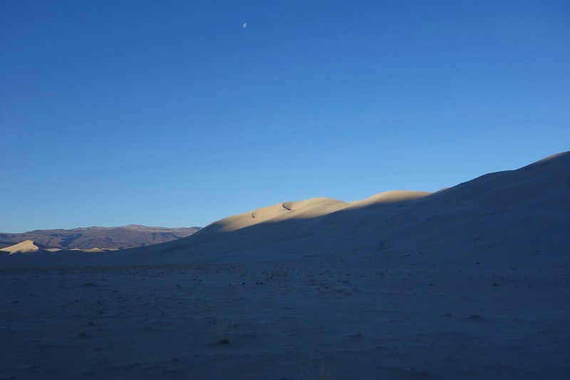 As the sun was rising, I headed for the top of the dunes again.