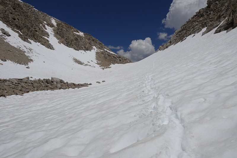 The last bit to the top of the pass