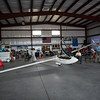 The airports newest hanger has a glider on display for people to sit inside during the Fitchburg Airport Aero Fair hosted by the Fitchburg Pilots Association at the Fitchburg Municipal Airport on Sunday June 11, 2017.  SENTINEL & ENTERPRISE/JEFF PORTER