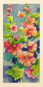 IMG_8049 Hollyhocks,,,by Kate Reeves,,watercolor and gouche