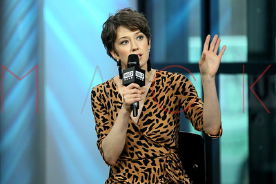 """NEW YORK, NY - APRIL 13:  Build Series Presents Carrie Coon Discussing """"Fargo"""" and """"The Leftovers"""" at Build Studio."""