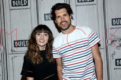 NEW YORK, NY - APRIL 27:  Build Series Presents Josephine Vander Gucht and Anthony West of the songwriting duo Oh Wonder discussing their new music at Build Studio.