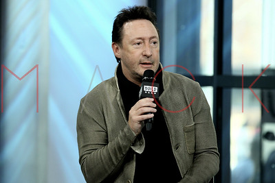 """NEW YORK, NY - APRIL 13:  Build Series Presents Julian Lennon Discussing """"Touch the Earth"""" at Build Studio."""