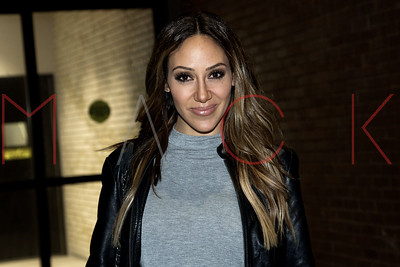 New York, NY - February 28:  Melissa Gorga exiting Doubletree Times Square West, New York, USA