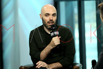 """NEW YORK, NY - JULY 07:  Writer/Director David Lowery visits Build to discuss the new film """"A Ghost Story"""" at Build Studio."""
