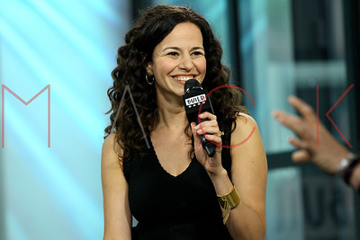 NEW YORK, NY - JULY 07:  Actress Mandy Gonzalez visits Build discussing her current projects at Build Studio.