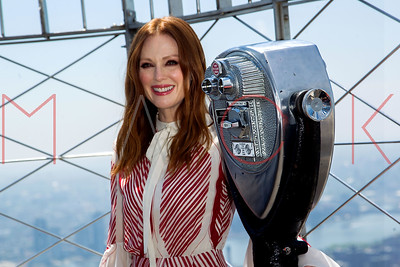 NEW YORK, NY - JUNE 01:  Julianne Moore lights the Empire State Building to honor National Gun Violence Awareness Day at The Empire State Building.