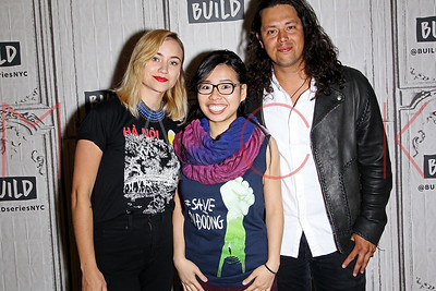 """NEW YORK, NY - MAY 03:  Build Presents Averie Timm, Huong Nguyen Thien Le and Tarik Benbrahim discussing The Documentary """"Saving Son Doong"""" at Build Studio."""