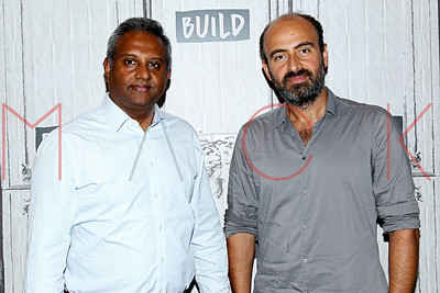 """NEW YORK, NY - SEPTEMBER 19:  Build presents Salil Shetty and Kinan Azmeh discussing the global refugee crisis and the """"Give A Home"""" Concert at Build Studio."""