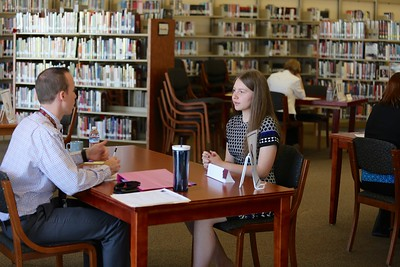 Whitney senior Lize-Lee Buchner is interviewed by Ian Brown