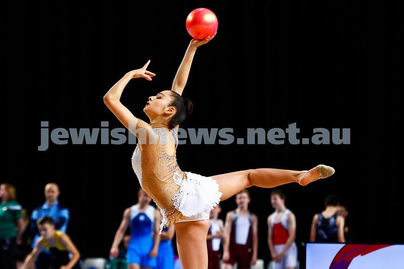 2-6-17. 2017 Australian Gymnastics Championships. Hisense Arena. Photo: Peter Haskin