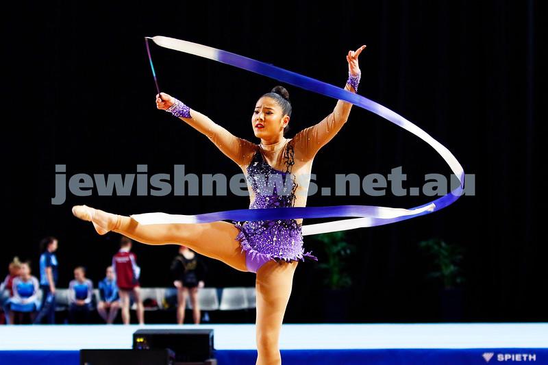 3-6-17. 2017 Australian Gymnastics Championships. Hisense Arena. Photo: Peter Haskin