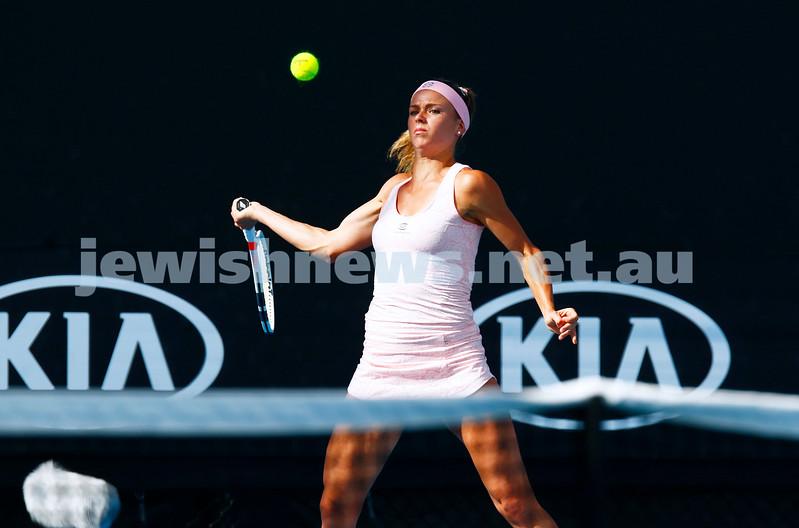 17-1-17. Australian Open. Womens singles round one. Camila Giorgi lost to Timea Bacsinszky 6-4 3-6 7-5. Photo: Peter Haskin