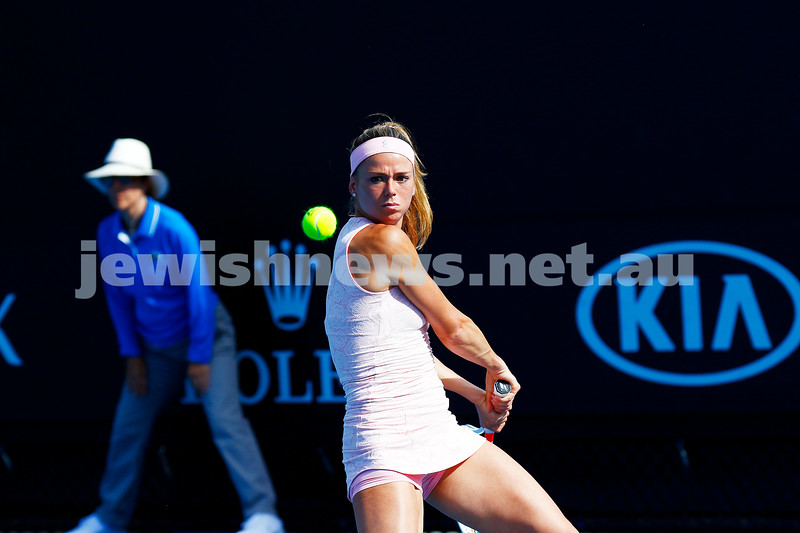 17-1-17. Australian Open. Womens singles round one. Camila Giorgi lost to Timea Bacsinszky 6-4 3-6 7-5. Photo: Peter Haskin